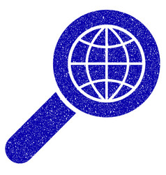 search globe place icon grunge watermark vector image vector image
