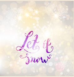 Snow winter background vector
