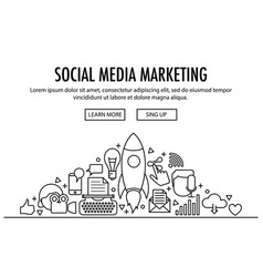 social media marketing template vector image