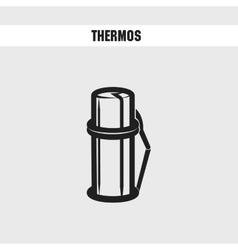 thermos cartoon icon vector image