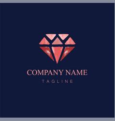 Watercolor diamond logo design1 vector