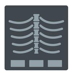 X ray photo icon isolated vector