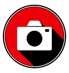 Red information icon - white camera vector