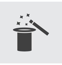 Magic hat icon vector image