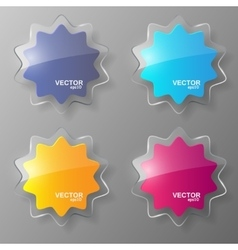 Glass stars set vector image