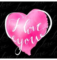 I love youvalentines day greeting card w vector