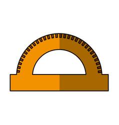 Ruler school supply icon vector