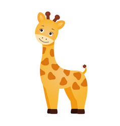 funny red giraffe vector image
