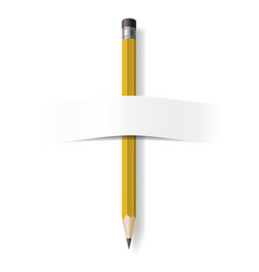 realistic pencil on white background for design vector image