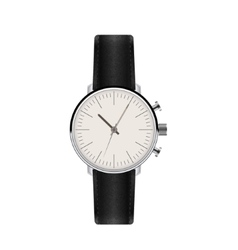 Watch with leather strap vector