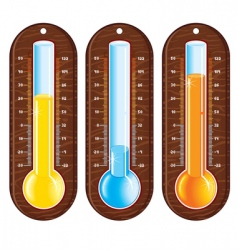temperature object vector image