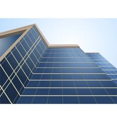 Glass windows on building vector