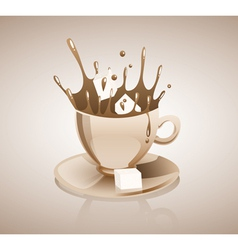 Splashing coffee drink vector