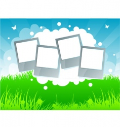 Summer background grass vector