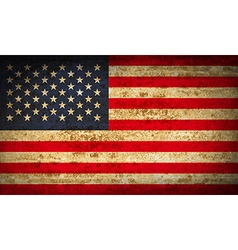 Flags usa with dirty paper texture vector