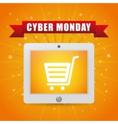 Cyber monday ecommerce design vector