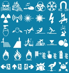Hazard and danger graphics vector