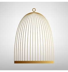 Bird cage sign flat style icon vector