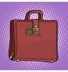 Case leather bag business businessman style vector