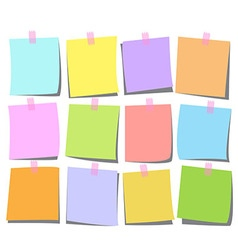 Note page set heart vector