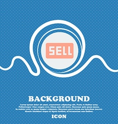 Sell contributor earnings sign icon blue and white vector