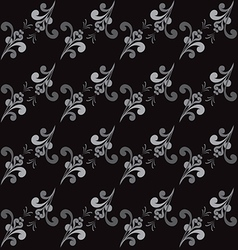 Seamless abstract floral grayscale pattern vector