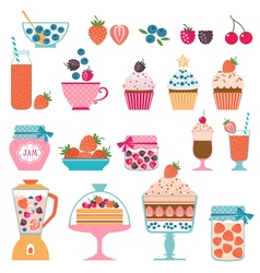 Berry sweets vector