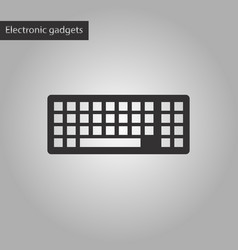 Black and white style icon computer keyboard vector