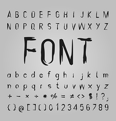 Bone font design vector