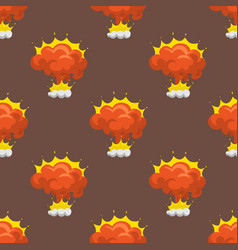 Cartoon explosion boom effect seamless pattern vector