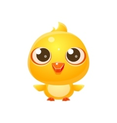 Chicken Baby Animal In Girly Sweet Style vector image vector image