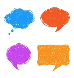 Colorful hand drawn speech and thought bubbles vector image vector image