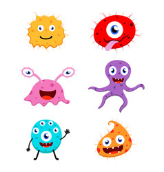 cute monster cartoon collection set vector image vector image