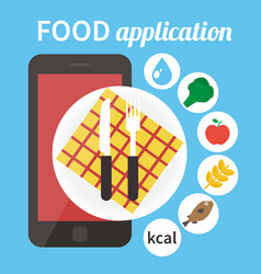 Diet food application Calorie counter app vector image vector image