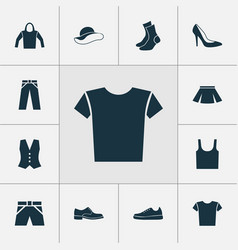 Dress icons set collection of elegance pants vector