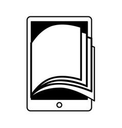 Electronic book in tablet icon vector
