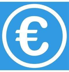 Euro coin icon vector
