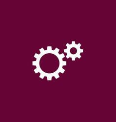 Gear icon simple vector
