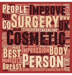 General cosmetic surgery text background wordcloud vector