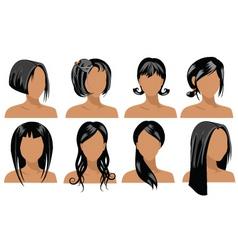 Hair styles vector