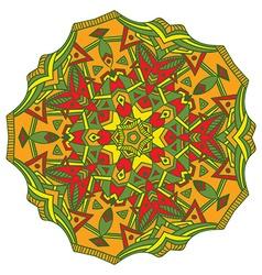 Hand-drawn colored mandala zentangl element vector