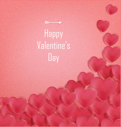Happy valentines day romantic greeting card with vector