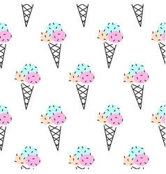 ice cream cone seamless pattern pop art vector image vector image