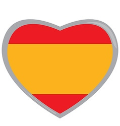 Isolated Spanish flag vector image vector image
