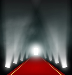 Light at the end of the corridor vector image