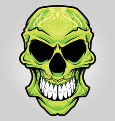 mexico skull color vector image vector image