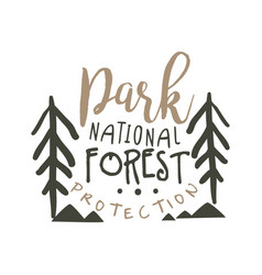 National park forest protection design template vector