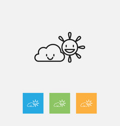 Of weather symbol on clear air vector