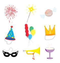 party and celebration icon collection vector image