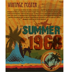 retro grunge summer poster vector image